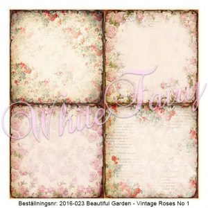 2016-023 Beautiful Garden - Vintage Roses No 1