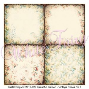 2016-025 Beautiful Garden - Vintage Roses No 3