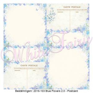 2016-103 Blue Flovers V2 - Postcard