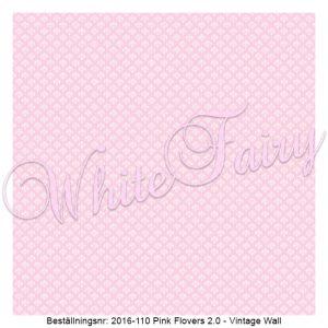 2016-110 Pink Flovers V2 - Vintage Wall