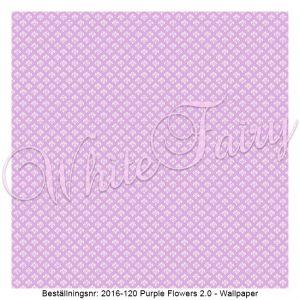 2016-120 Purple Flowers - Wallpaper