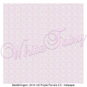 2016-121 Purple Flowers 2.0 - Stripes